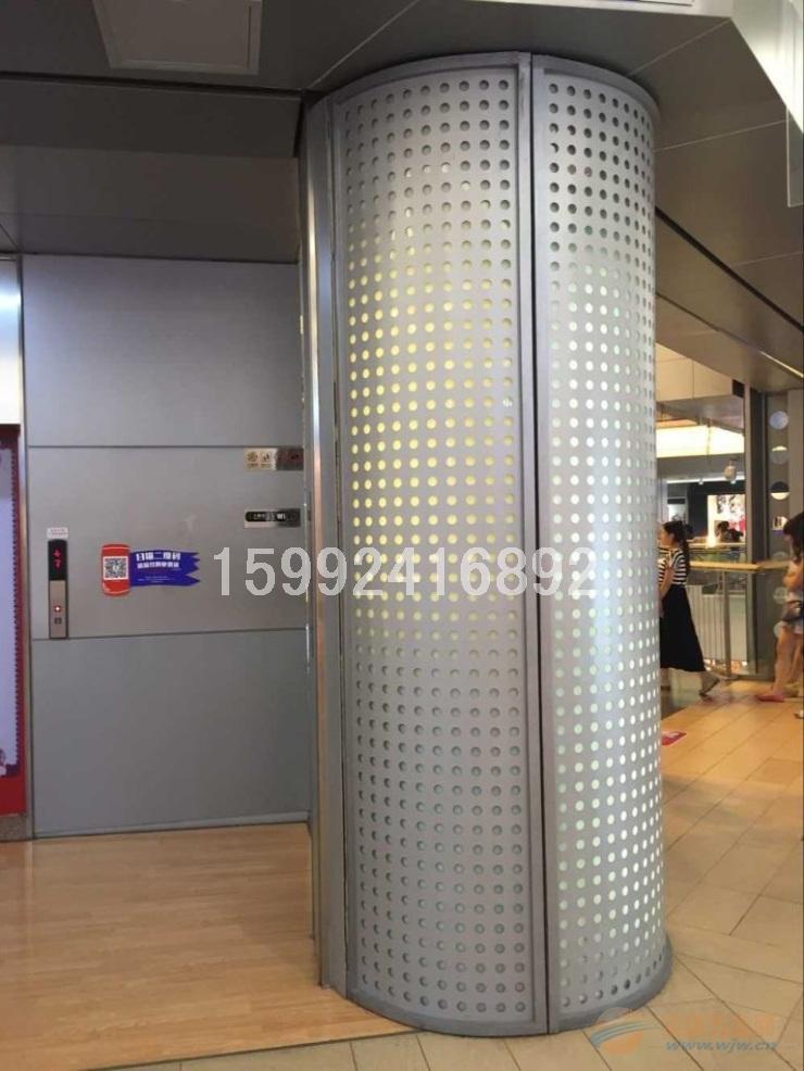 包柱铝单板安装大样图