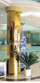 不锈钢钛金包边立柱/酒店立柱包边不锈钢/不锈钢工程装饰材料加工