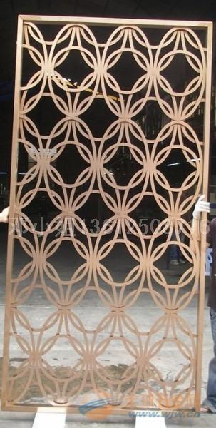 香港鹅蛋形不锈钢隔断%不锈钢装饰隔断%玫瑰金雕花隔断%不锈钢镂空隔断%
