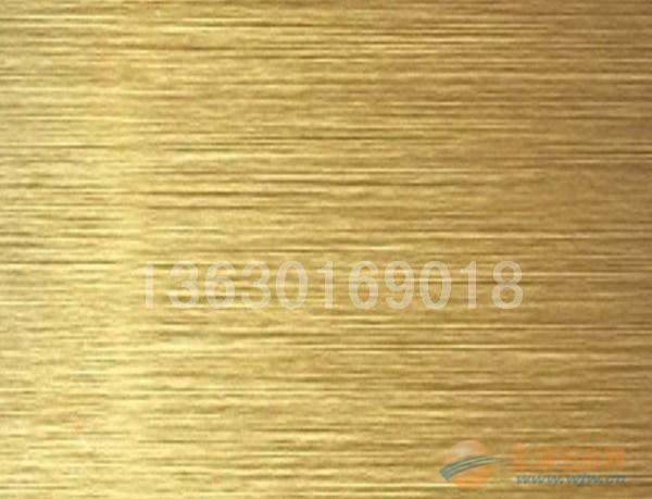 海南金色直拉丝不锈钢板,不锈钢装饰板定做