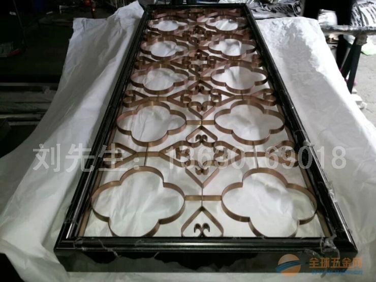 梅花图案,心形装饰,窗花不锈钢屏风-广州海岸花园