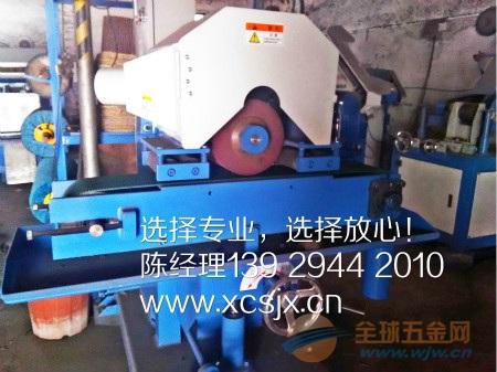 输送式尼龙轮直纹拉丝机,高产能直纹拉丝机