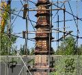 寺院大型七层千佛塔、铸铁五层千佛塔、大型九层铸铁千佛塔