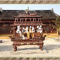 厂家直销寺庙香炉,供应熏香炉,铸铁长方带盖香炉。道教香炉