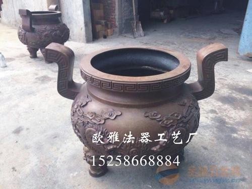 圆形平口香炉 圆形铁香炉厂家 圆形带盖二层香炉