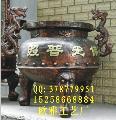 圆形平口香炉,铸铁香炉,铸铜香炉