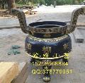 优质圆形香炉定做、铸铁带盖圆形香炉、圆形平口香炉