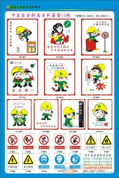 卡通图案安全标志牌-卡通图案安全标志牌