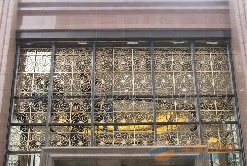 香港古铜镂空装饰花格