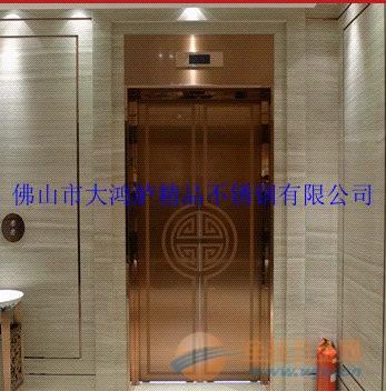 云南五星级酒店不锈钢玫瑰金电梯门头 门框 门花蚀刻加工厂