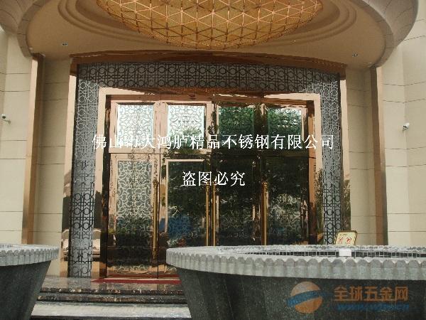 超级豪华钛金不锈钢大门 门框