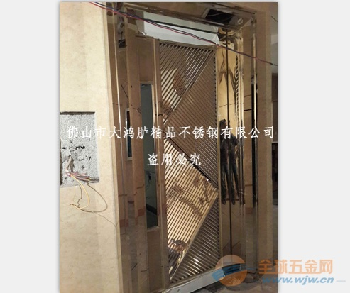真空电镀不锈钢钛金包厢门