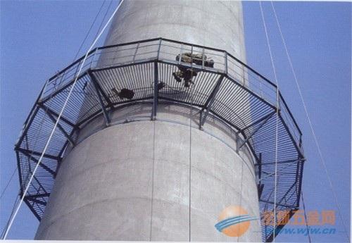 张掖烟囱安装螺旋梯公司