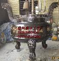 供应各规格大小铸铁香炉,圆口香炉,宝鼎