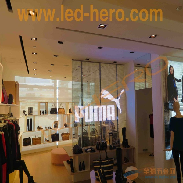 高轻薄led透明屏/led玻璃屏生产厂家/广告传媒led屏幕