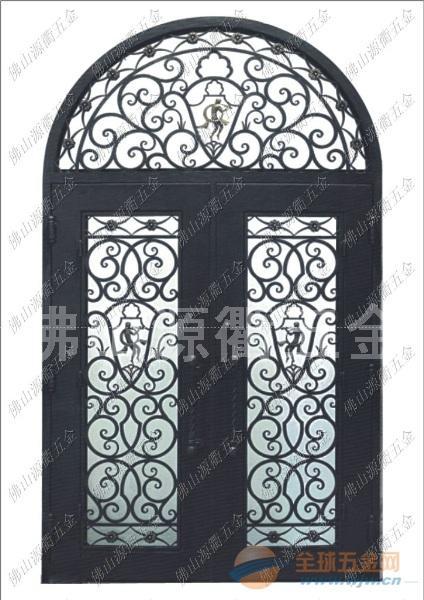 巴西圣保罗别墅大门 庭院门 铁艺门 不锈钢复古镀铜门