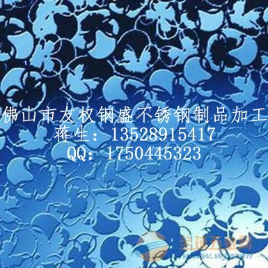 不锈钢蚀刻花纹装饰板/不锈钢表面花纹加工价格