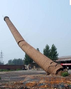 烟囱破坏性的拆除