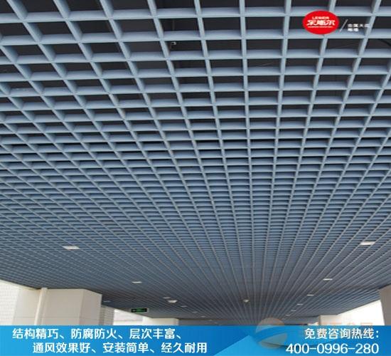 大型商场白色铝格栅-15*15铝格栅吊顶