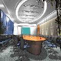 会议室造型铝单板吊顶安装效果图