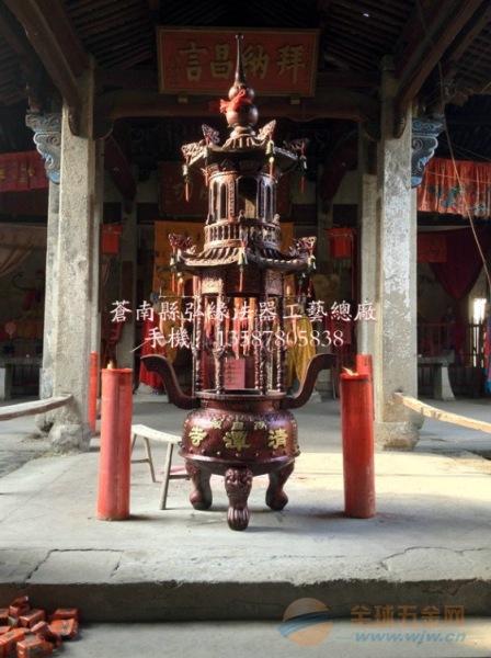 二层六龙柱香炉