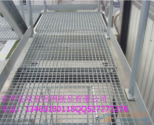 厂家定制热镀锌格栅板 楼梯踏板 平台钢格板