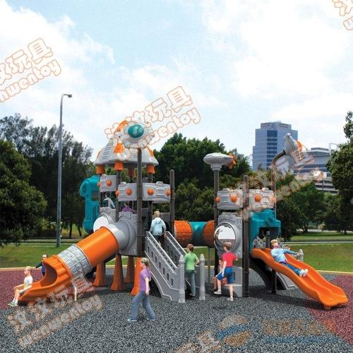 汶汶工厂可批发大型户外儿童娱乐组合滑梯