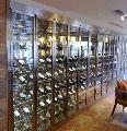 不锈钢恒温酒柜,不锈钢红酒架