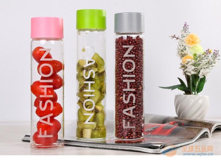 创意新品FASHION时尚透明玻璃喝茶水杯高硼硅耐热玻璃杯