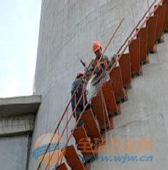 60米水泥烟囱安装旋转梯平台公司江苏华众高空