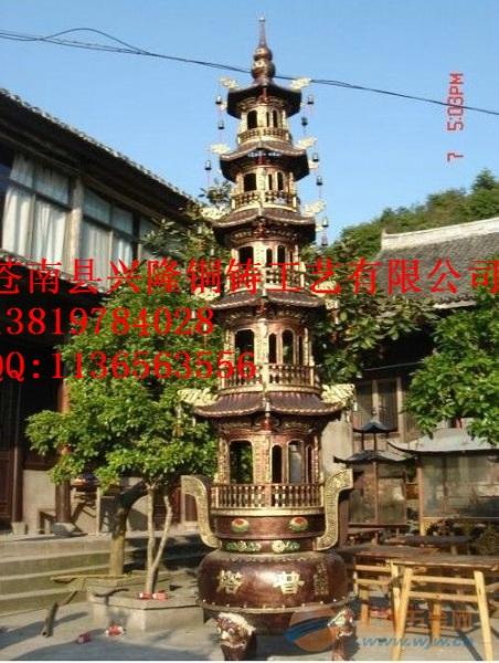 石家庄宝鼎批发寺庙铸铁五层铜宝鼎厂家给您满意的价格