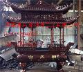 天津铸造长方龙柱铜铁香炉厂家