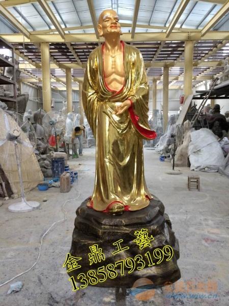 铜佛像十八罗汉
