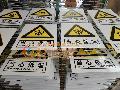 安全警告标志牌【安全警告铝板丝印牌|安全警告铝板反光牌】