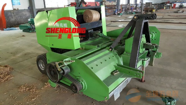 棉花秸秆破碎打捆机自产自销的秸秆切碎打包机厂家