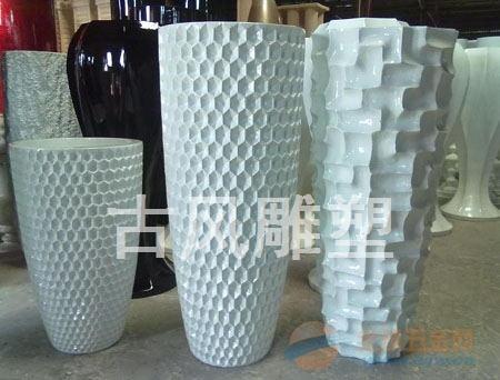 水泥花坛,园林雕塑花盆,园林雕塑小品,仿陶罐花盆,仿木纹花盆,重量轻