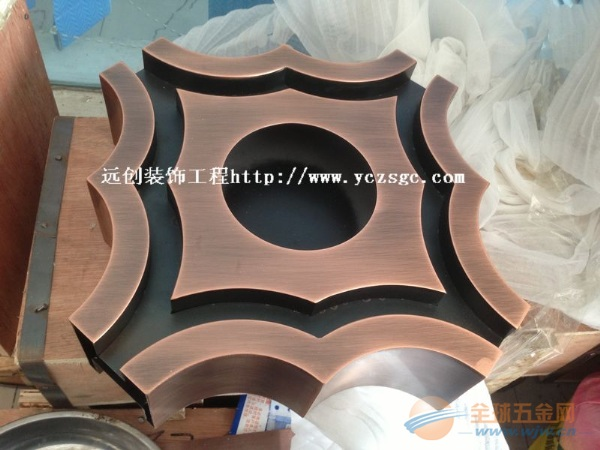特色不锈钢异形件加工,彩色不锈钢造型定做