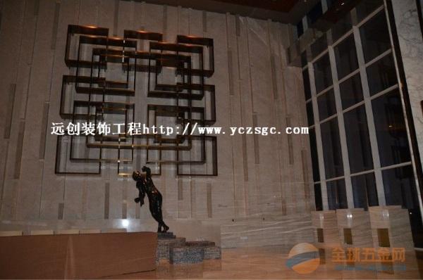 哪里可以定做酒店大堂彩色不锈钢背景墙