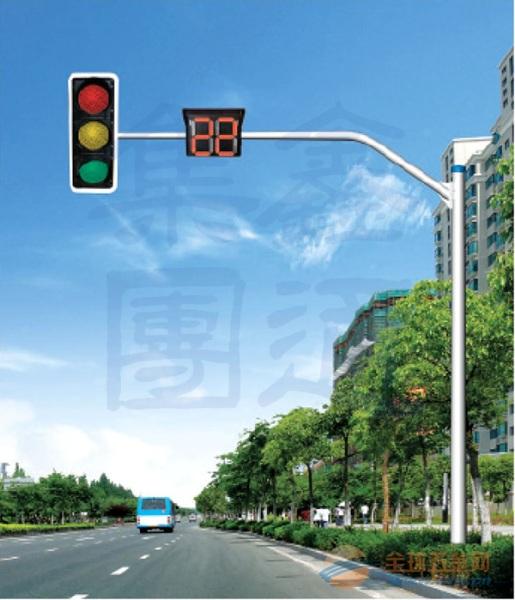 广西弯臂信号灯杆,内蒙古信号灯厂家,XT-010