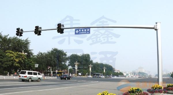 长悬臂八角信号灯杆,西安信号灯杆厂家,XT-015