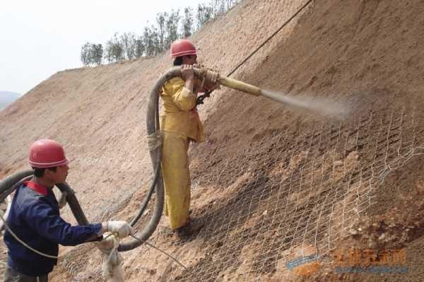 深圳护坡植草菱形钢丝网施工